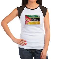 Mozambique Flag Women's Cap Sleeve T-Shirt
