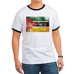 Mozambique Flag Ringer T