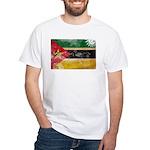 Mozambique Flag White T-Shirt