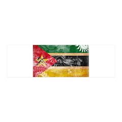 Mozambique Flag 21x7 Wall Peel