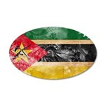 Mozambique Flag 38.5 x 24.5 Oval Wall Peel