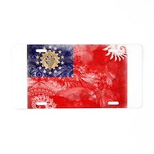 Myanmar Flag Aluminum License Plate