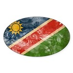 Namibia Flag Sticker (Oval 50 pk)