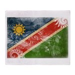 Namibia Flag Throw Blanket
