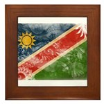 Namibia Flag Framed Tile