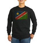 Namibia Flag Long Sleeve Dark T-Shirt