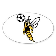 Soccer Wasp Oval Decal