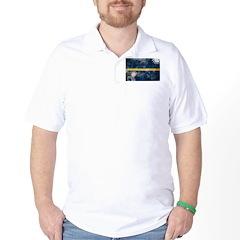 Nauru Flag Golf Shirt