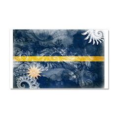 Nauru Flag Car Magnet 20 x 12