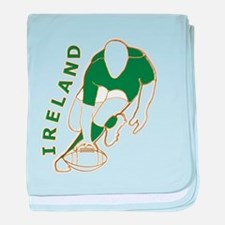 Ireland Rugby Style baby blanket