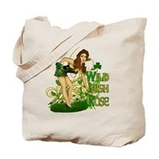 Wild Irish Rose Pinup Tote Bag