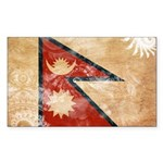 Nepal Flag Sticker (Rectangle 50 pk)