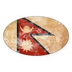 Nepal Flag Sticker (Oval)