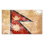 Nepal Flag Sticker (Rectangle)