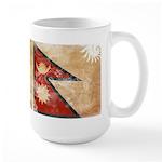 Nepal Flag Large Mug