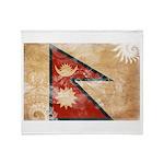 Nepal Flag Throw Blanket