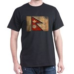 Nepal Flag Dark T-Shirt
