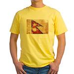 Nepal Flag Yellow T-Shirt