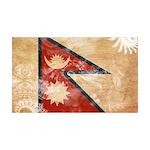 Nepal Flag 38.5 x 24.5 Wall Peel