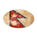 Nepal Flag 22x14 Oval Wall Peel