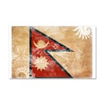 Nepal Flag Car Magnet 20 x 12