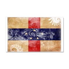 Netherlands Antilles Flag Car Magnet 20 x 12