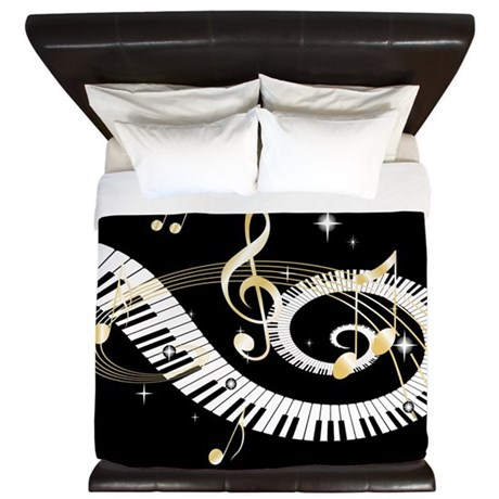 designer Musical notes King Duvet