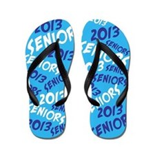 Blue Senior Class OF 2013 Flip Flops