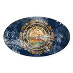 New Hampshire Flag Sticker (Oval 10 pk)