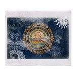 New Hampshire Flag Throw Blanket