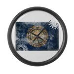New Hampshire Flag Large Wall Clock