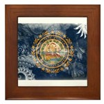 New Hampshire Flag Framed Tile