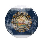 New Hampshire Flag Ornament (Round)