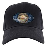 New Hampshire Flag Black Cap