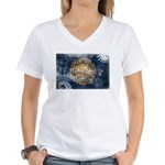 New Hampshire Flag Women's V-Neck T-Shirt