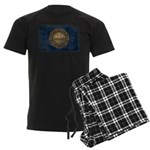 New Hampshire Flag Men's Dark Pajamas