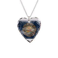 New Hampshire Flag Necklace