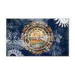 New Hampshire Flag 22x14 Wall Peel