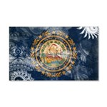 New Hampshire Flag 22x14 Wall Peel