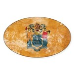New Jersey Flag Sticker (Oval)