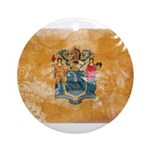 New Jersey Flag Ornament (Round)