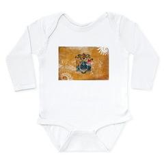 New Jersey Flag Long Sleeve Infant Bodysuit