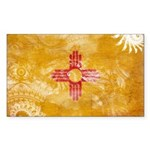 New Mexico Flag Sticker (Rectangle 50 pk)