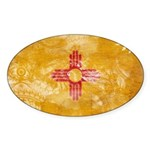 New Mexico Flag Sticker (Oval 50 pk)