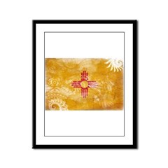 New Mexico Flag Framed Panel Print
