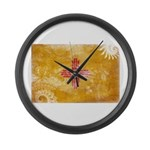 New Mexico Flag Large Wall Clock