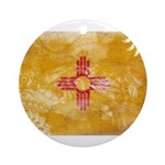 New Mexico Flag Ornament (Round)