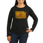 New Mexico Flag Women's Long Sleeve Dark T-Shirt