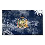 New York Flag Sticker (Rectangle 50 pk)