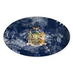 New York Flag Sticker (Oval 50 pk)